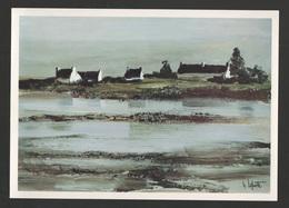 France Peintre George LAPORTE - Maisons Bretonnes  Carton Exposition - Format 21x15 Cm - Paintings