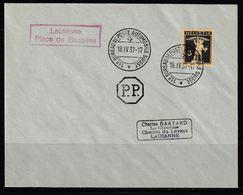 Schweiz Suisse 1937:  O BUREAU DE POSTE AUTOMOBILE 18.IV.37 LAUSANNE Place De Beaulieu (Zu CHF 20.00++) - Suisse