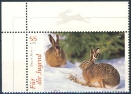 6188  Lièvre: Timbre D'Allemagne (2006) Avec Bordure Intéressante - Hare: Corner Stamp From Germany With Nice Margin! - Konijnen