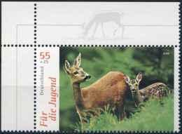 7218  Chevreuil: Timbre D'Allemagne Avec Bordure Intéressante -  Roe Deer Stamp With Nice Margin! - Gibier
