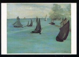 CPM Neuve Arts Peinture Edouard MANET Sortie Du Port De Boulogne 1864-1865 - Paintings