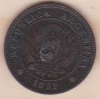 ARGENTINE / TUCUMAN. UN CENTAVO 1891. BRONZE - Argentinië