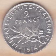 2 Francs Semeuse 1916, En Argent - France