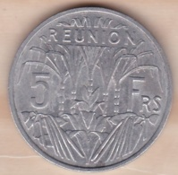 ILE DE LA REUNION. 5 FRANCS 1955 . ALUMINIUM - Réunion