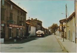 CPM DOUZENS (11) - La Route Nationale (camion Citerne Fina, Restaurant Routiers) - France