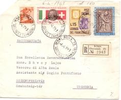 1963 RACCOMANDATA Da ROMA  PER UNGHERIA   022 - 6. 1946-.. Repubblica