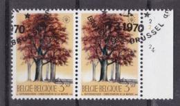 Belgie Plaatnummer COB° 1526-27.4 - Oblitérés