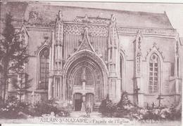 CPA - ABLAIN ST NAZAIRE   -  Façade De L'église - France