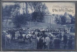 Carte Postale  56. Pontivy Le Champ De Foire Vieux Chateau Très Beau Plan - Pontivy