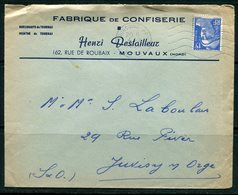 Enveloppe De TOURCOING (nord) De 1954 - Y&T N°886 - Advertising
