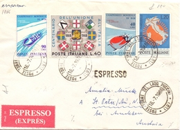 1966 Espresso DA Torre Del Lago  Per Austria  022 - 1946-60: Marcofilia