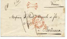 Lettre De Santander Pour Bordeaux1847 - Espagne