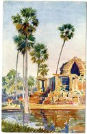 CAMBODGE  ANGHOR VAT   EDIFICE ANNEXE  -  TRES BELLE ILLUSTRATION - Cambodia