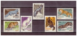 URSS701) 1967-Animali Da Pelliccia - Unificato 3265-71 Serie Cpl 7val MNH** - Nuovi