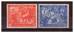 Germania Occupazioni11) - Zona Sovietica1949 -FIERA PRIMAVERILE DI LIPSIA Cpl 2 Val Unif.49-50 MLH* - Zone Soviétique