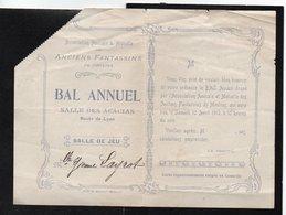 Vieux Papiers > Non Classés Bal Annuel Association Amicale & Mutuelle Des Anciens Fantassins De Moulins - Non Classés