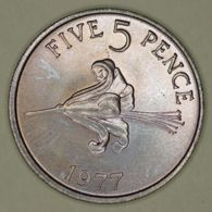 Guernsey - 5 Pence - 1977 - UNC - Regional Coins