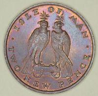 Isle Of Man - 2 Pence - 1975 - Elizabeth II - AUNC - Isle Of Man