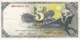 BILLETE DE ALEMANIA DE  5 MARCOS DEL AÑO 1948  (BANKNOTE) TORO-BULL - [ 7] 1949-… : RFA - Rep. Fed. De Alemania