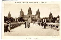 CAMBODGE  TEMPLE ANGKOR VAT    EXPOSITION COLONIALE PARIS 193 - Cambodia