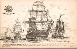 BATEAUX- VOILIERS LIGUE MARITIME FRANCAISE  LA REVOLUTION NAPOLEON 1er - Velieri