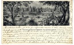 CAMBODGE  SOUVENIR DES RUINES D ANGKOR VUE GENERALE RESTITUEE - Cambodia
