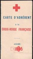 Vieux Papiers > Cartes > Non Classés Carte D Adhérent à La Croix Rouge Française - Cartes