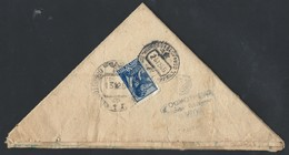 """655d.""""Triangle"""" From The Fleet. Passed The Post Of 1945 Sevastopol. Buzuluk. Censorship. - Covers & Documents"""