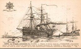 BATEAUX- VOILIERS LIGUE MARITIME FRANCAISE  1859  LA FREGATE CUIRASSEE LA GLOIRE - Voiliers