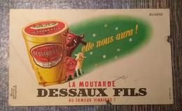 RARE BUVARD LA MOUTARDE DESSAUX FILS - Moutardes