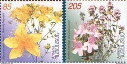 Armenia MNH** Armenian Medicinal Plants 2001 Scott 645-646 Mi 252-253 Flowers - Armenia
