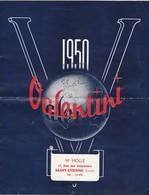 Catalogue    M Molle      St Etienne Loire  Valentini    Tarif Et Livret   1950 - Non Classés