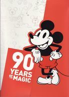 Malaysia 2018 90 Years Of Magic Folder Set Cartoon Disney Mickey Mouse Food - Malaysia (1964-...)