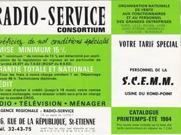 Catalogue  Radio Service 1964   Usine Du Rond Point  St Etienne  Loire  Rue De La Republique    Scemm - Vieux Papiers