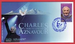 Armenien / Armenie / Armenia / Artsakh / Karabakh 2018, Charles Aznavour (1924-2018), Singer, Actor - FDC - Armenia
