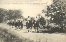 USA - Ferrisburg VT - Campers On Trailride At Ecole Champlain - Circa 1910 - Etats-Unis
