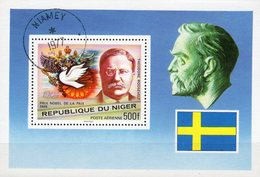 1977 Nobelpreis Niger Block 17 O 2€ Friedenspreis 1906 USA-Präsident Roosevelt Bloque Hoja Ss Bloc Sheet Bf History - Nobel Prize Laureates