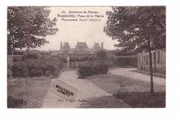 78 Ecquveilly Place De La Mairie Monument Henry Deutsch Cpa Edit Klein Cachet 1935 - France