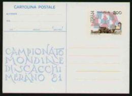 1981 - Campionato Mondiale Di Scacchi A Merano -  Nuova - 1946-.. République