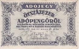 BILLETE DE HUNGRIA DE 500000 ADOPENGO DEL AÑO 1946  (BANKNOTE) - Hongrie
