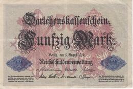 BILLETE DE ALEMANIA DE 50 MARK DEL AÑO 1914 (BANKNOTE) - 50 Mark