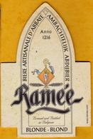 Sous-bock Cartonné - Bière - Belgique - Ramée - Blonde & Ambrée - Blond & Amber - Beer Mats