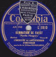 """78 Trs - 30 Cm - état TB -  DAMNATION DE FAUST  """"Marche Hongroise""""  """"Les Sylphes"""" ORCHESTRE DU CONCERTGEBOOW D'AMSTERDAM - 78 T - Disques Pour Gramophone"""