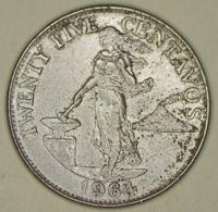 Philippines - 25 Centimos - 1964 - AUNC - Philippines