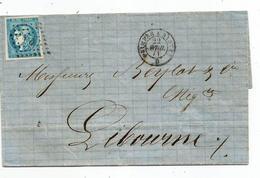 - FINISTERE - Losange N Q S/tpnd N°45C Type II Reprt 2 + Ambulant Quimper à Nantes - 1871 - 1870 Ausgabe Bordeaux