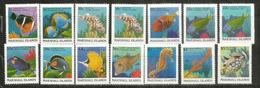 Poissons Des Récifs Et Des Atolls Des îles Marshall (Oéan Pacifique).  14 Timbres Neufs ** Côtte 40,00 Euro - Poissons