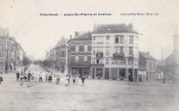 Etterbeek Place St-Pierre Et Avenue Circulée En 1909 - Etterbeek