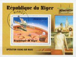 Viking Raumfahrt 1977 Niger Block 16 O 2€ Mars-Landung NASA Weltraum-Forschung USA Ss Hoja M/s Bloc Sheets Bf Space - Niger (1960-...)