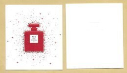 Carte Parfumée Perfume Card CHANEL * NOEL XMAS 2018 * R/V - Perfume Cards