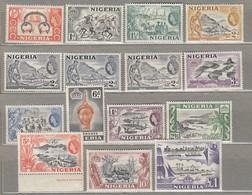NIGERIA 1953 Shades Varieties Mi 71-83 SG 69-80 MNH/MVLH (**/*) Read #23416 - Nigeria (...-1960)